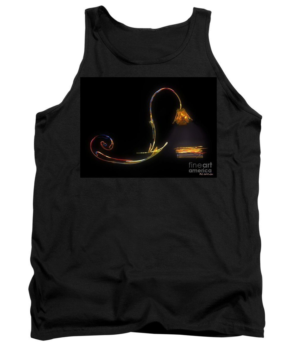 Lamp Tank Top featuring the painting Do Not Go Gentle by RC DeWinter
