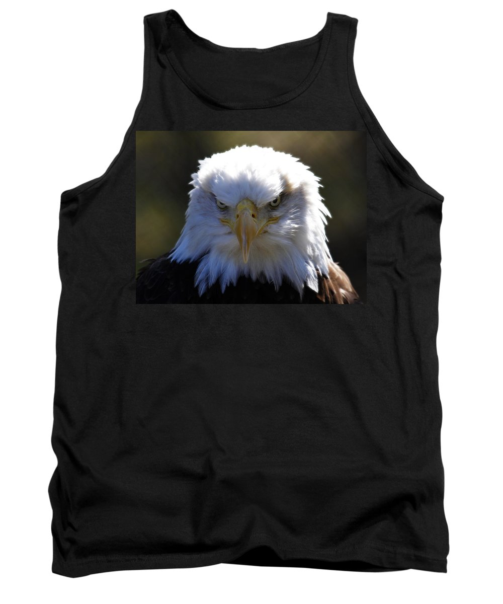 Bald Eagle Tank Top featuring the photograph Do You Feel Lucky? by Steve McKinzie