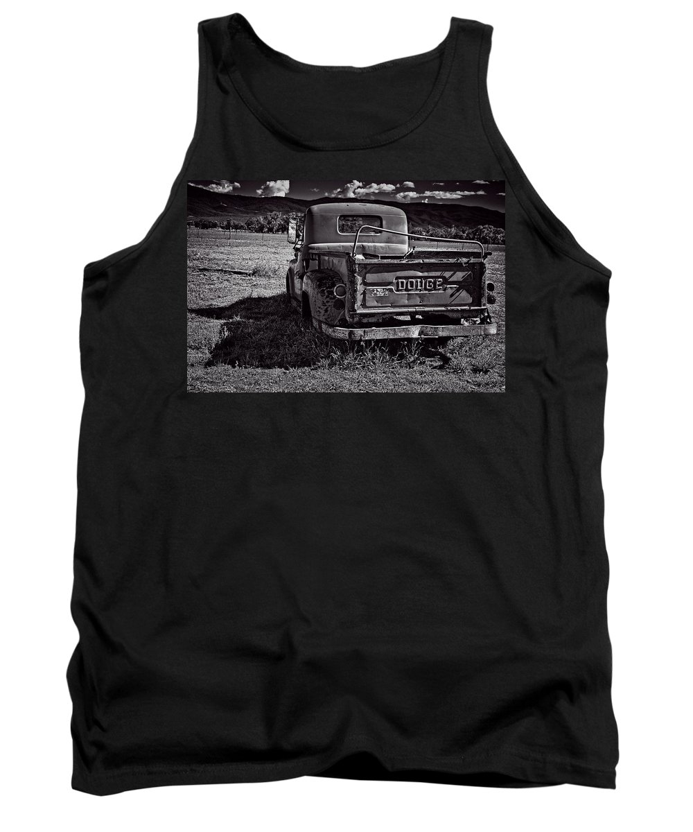 Old Tank Top featuring the photograph Dodge In The Zone by Charles Muhle