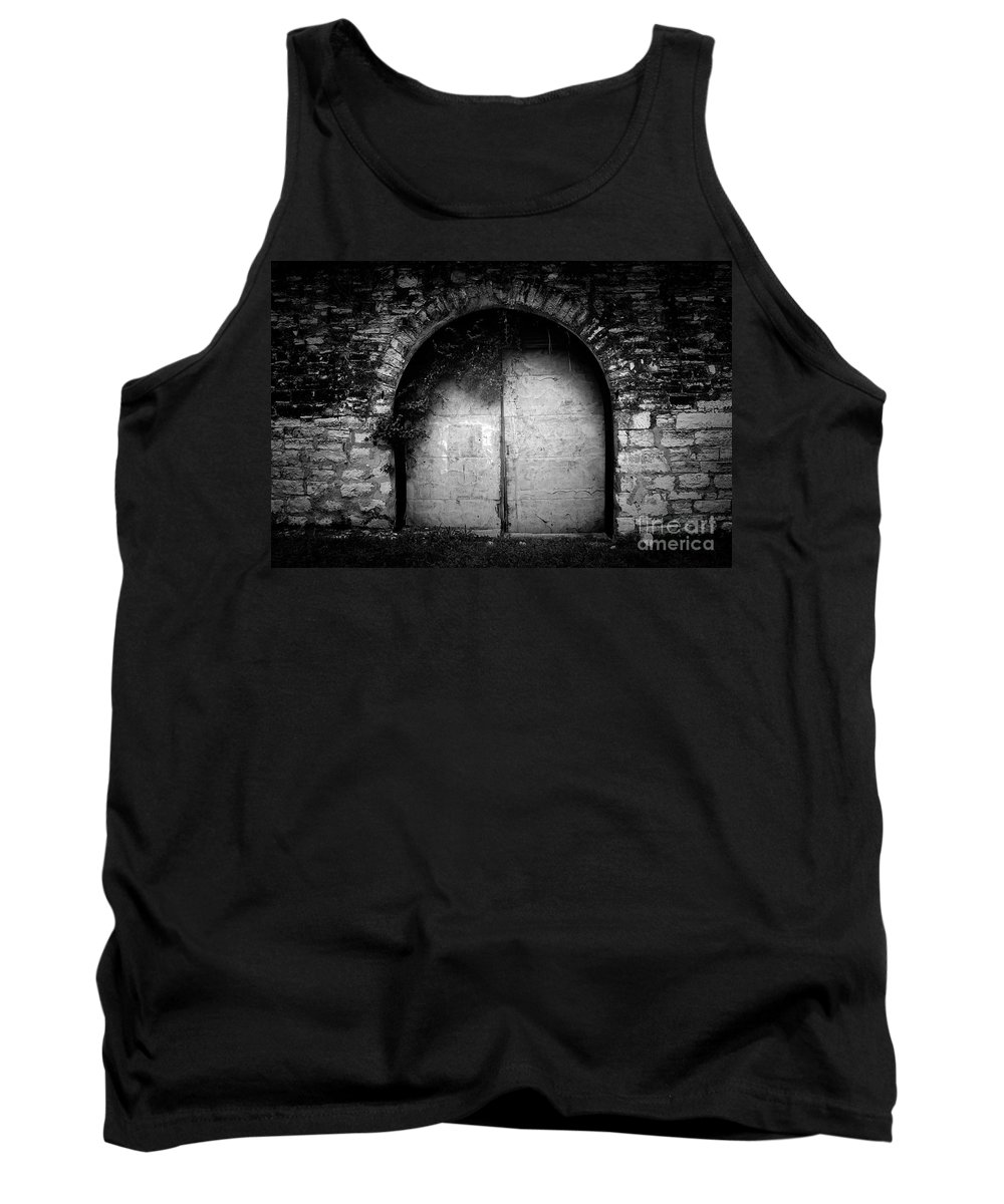 Black Tank Top featuring the photograph Doors To The Other Side by Trish Mistric