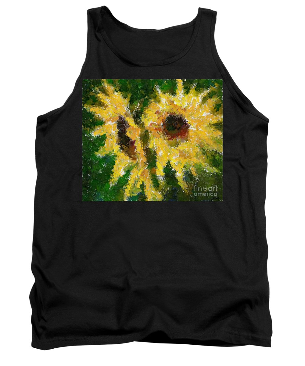 Still Life Tank Top featuring the painting Dos by Dragica Micki Fortuna