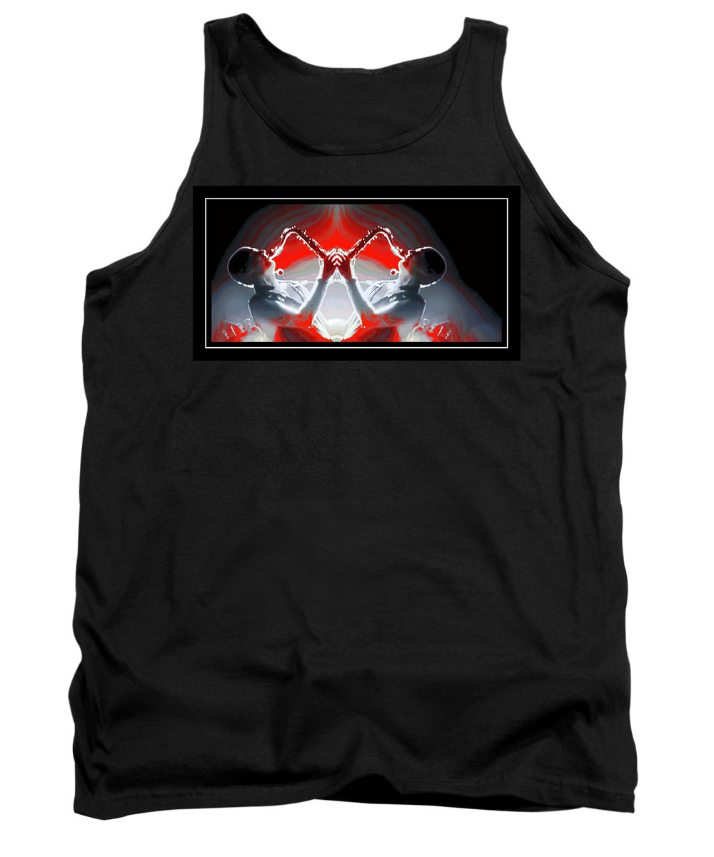 Saxophonist Artistic Tank Top featuring the photograph Doublesax by Alice Gipson