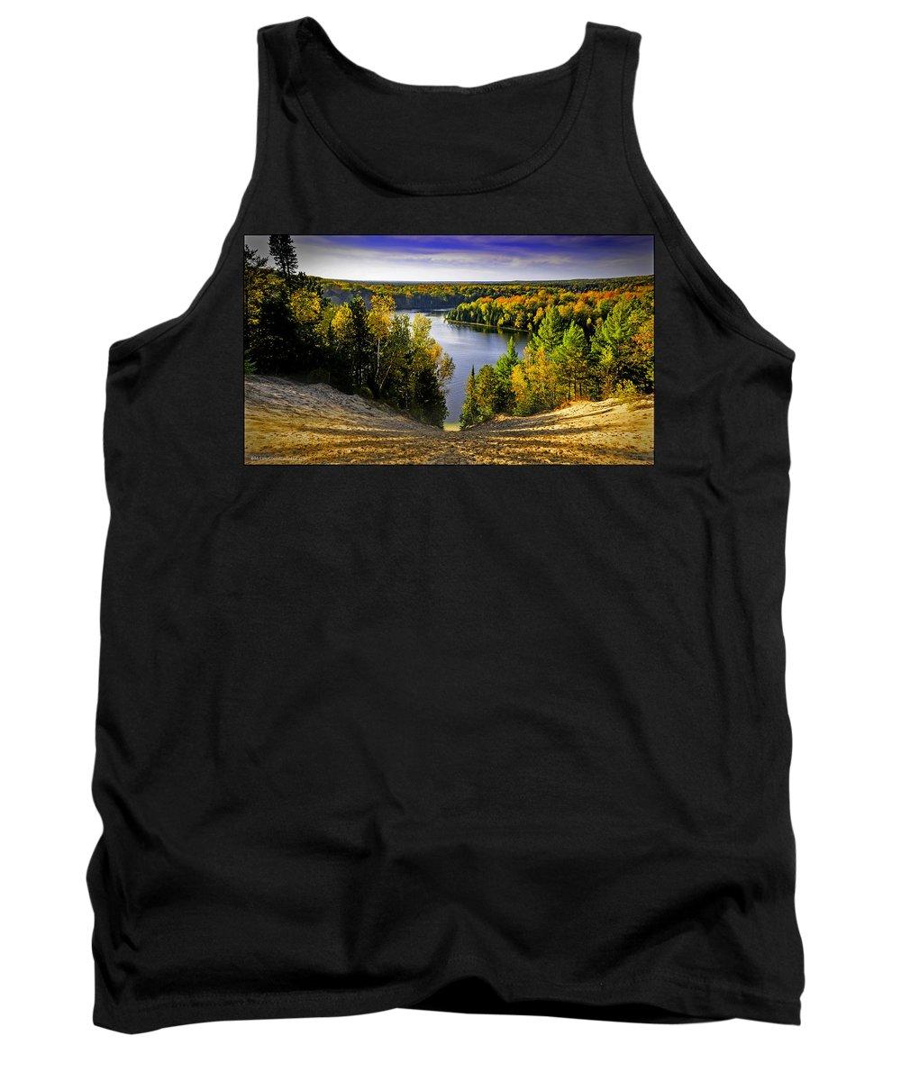 Usa Tank Top featuring the photograph Down Hill Into Fall by LeeAnn McLaneGoetz McLaneGoetzStudioLLCcom
