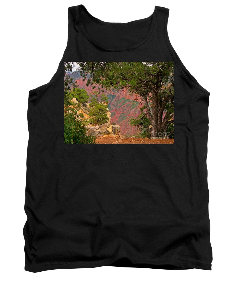 Beautiful Landscapes Tank Top featuring the photograph Down Into The Grand Canyon by John Malone