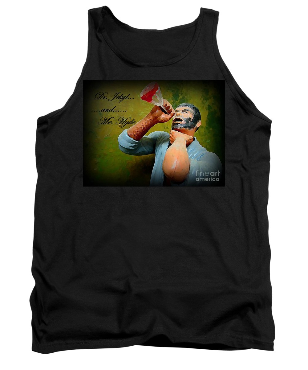 Nightmares Tank Top featuring the painting Dr. Jekyl And Mr. Hyde by John Malone