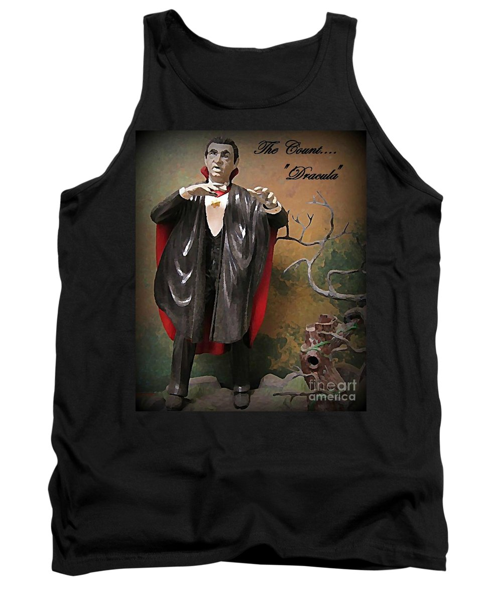 Nightmares Tank Top featuring the painting Dracula Model Kit by John Malone