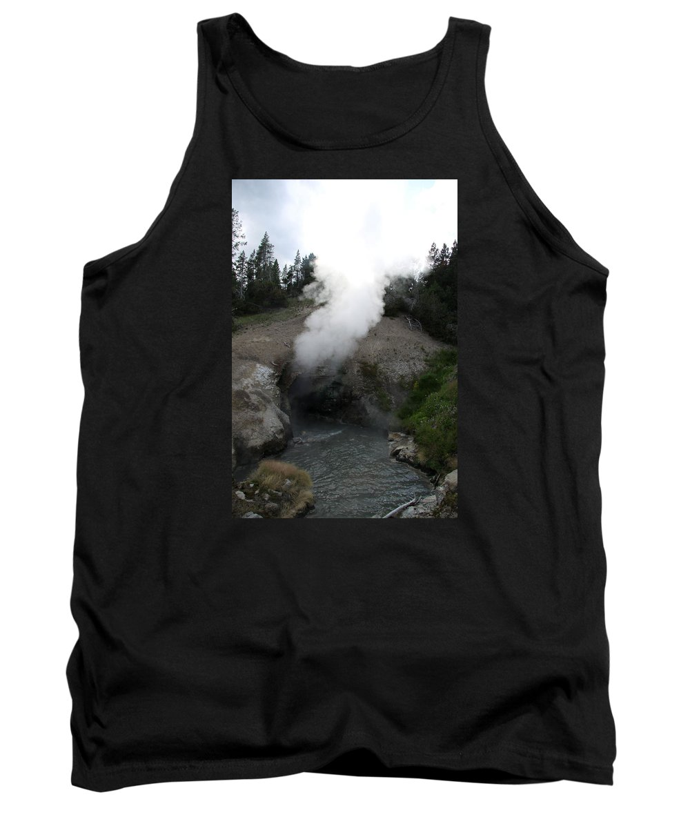 Mammoth Hot Spring Tank Top featuring the photograph Dragon's Mouth Hot Spring by Christiane Schulze Art And Photography