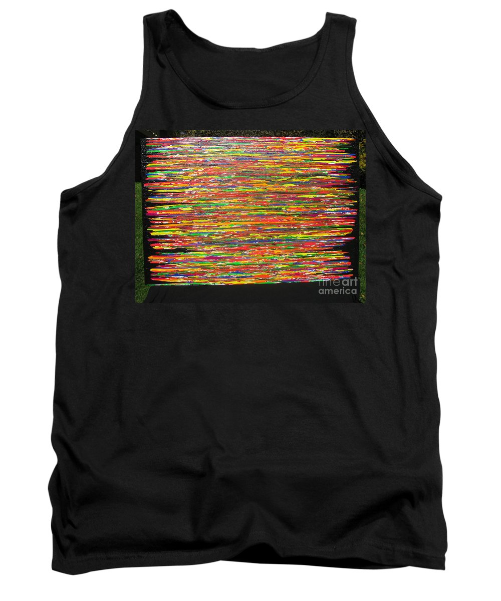 Drama Tank Top featuring the painting Drama by Jacqueline Athmann