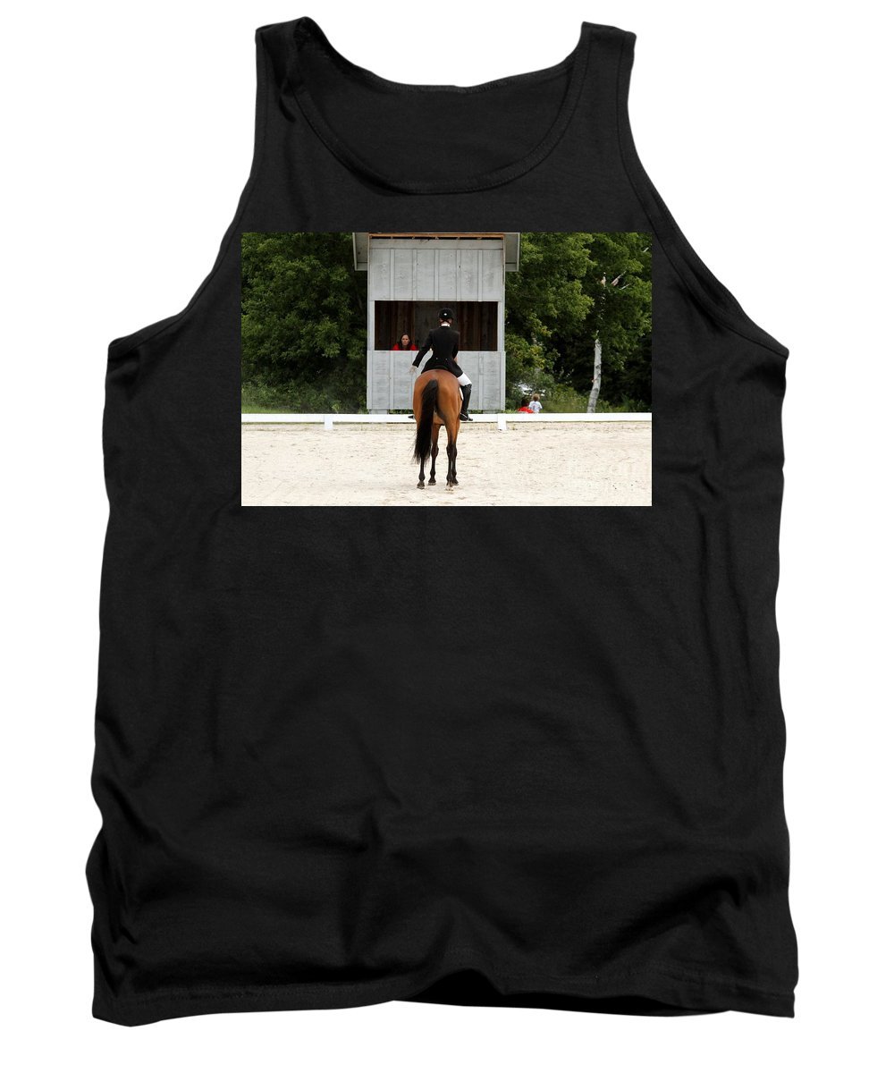 Horse Tank Top featuring the photograph Dressage Salute by Janice Byer