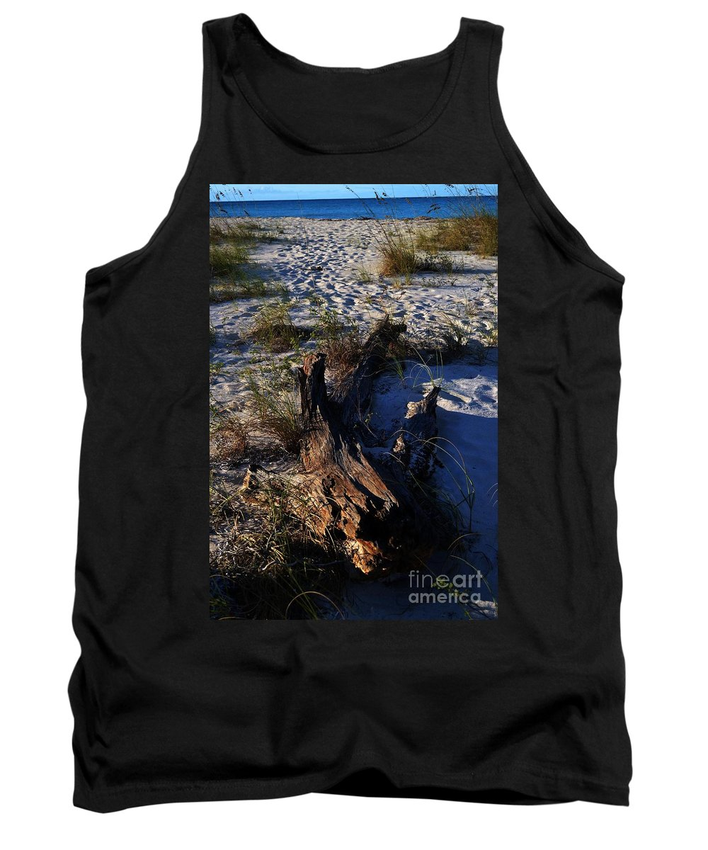 Turks And Caicos Tank Top featuring the photograph Drift Wood by Judy Wolinsky