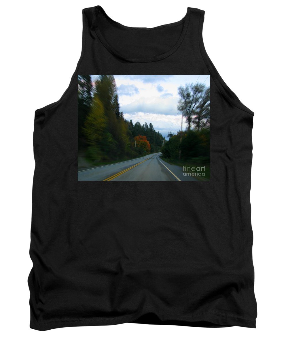 Highway Tank Top featuring the photograph Driving by Leone Lund