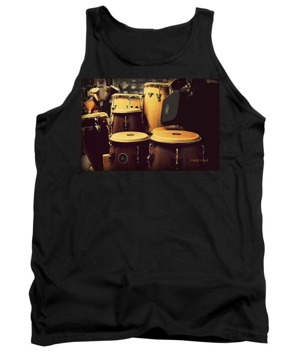 Featured Tank Top featuring the photograph Drum Beat by Paulette B Wright