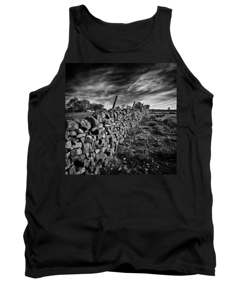 Farm Tank Top featuring the photograph Dry Stone Walls by Meirion Matthias