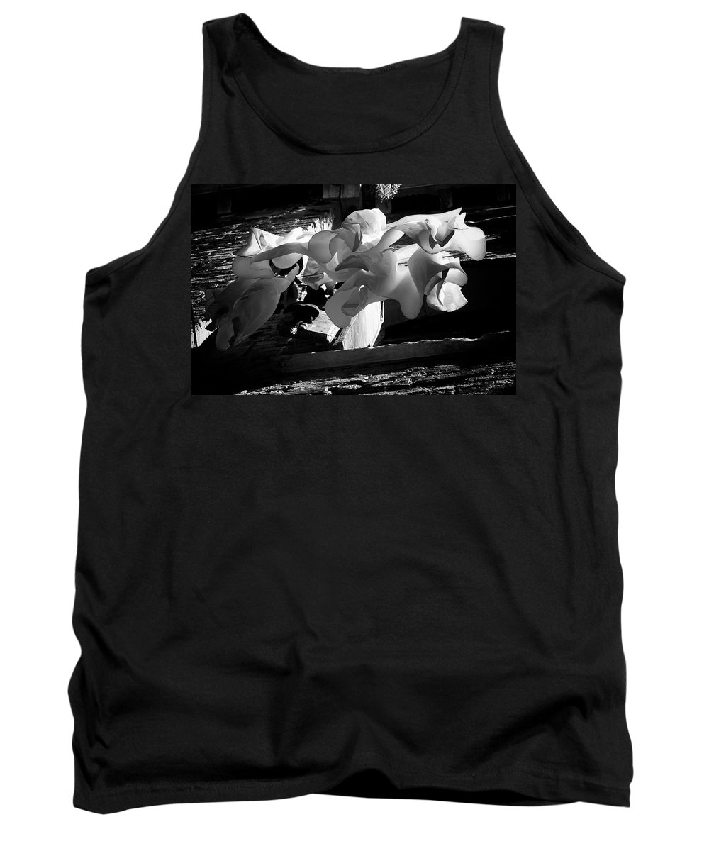Clothes Tank Top featuring the photograph Drying Clothes by David Resnikoff