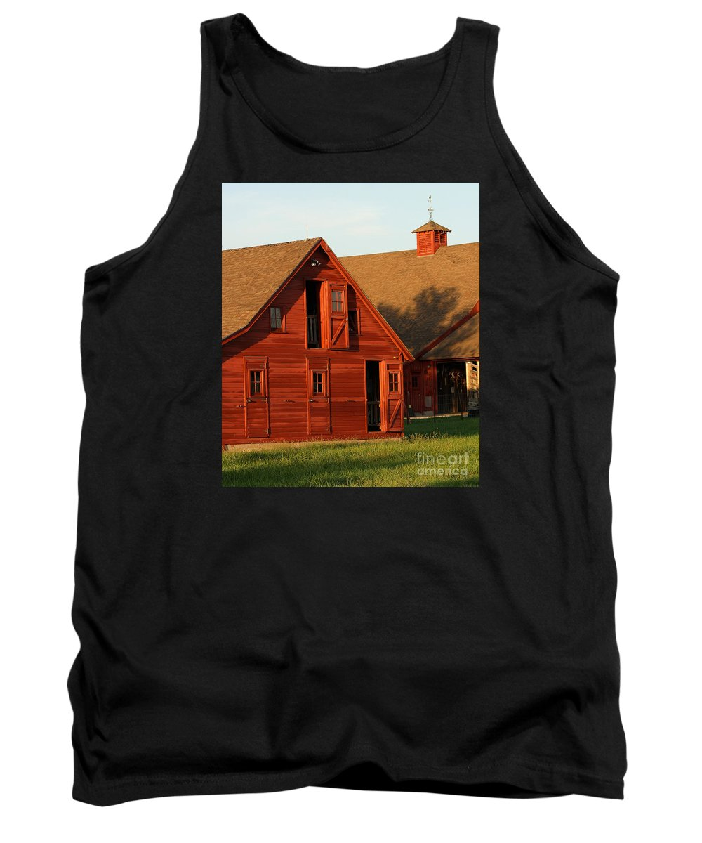 Agriculture Tank Top featuring the photograph Dual Barns-3811 by Gary Gingrich Galleries