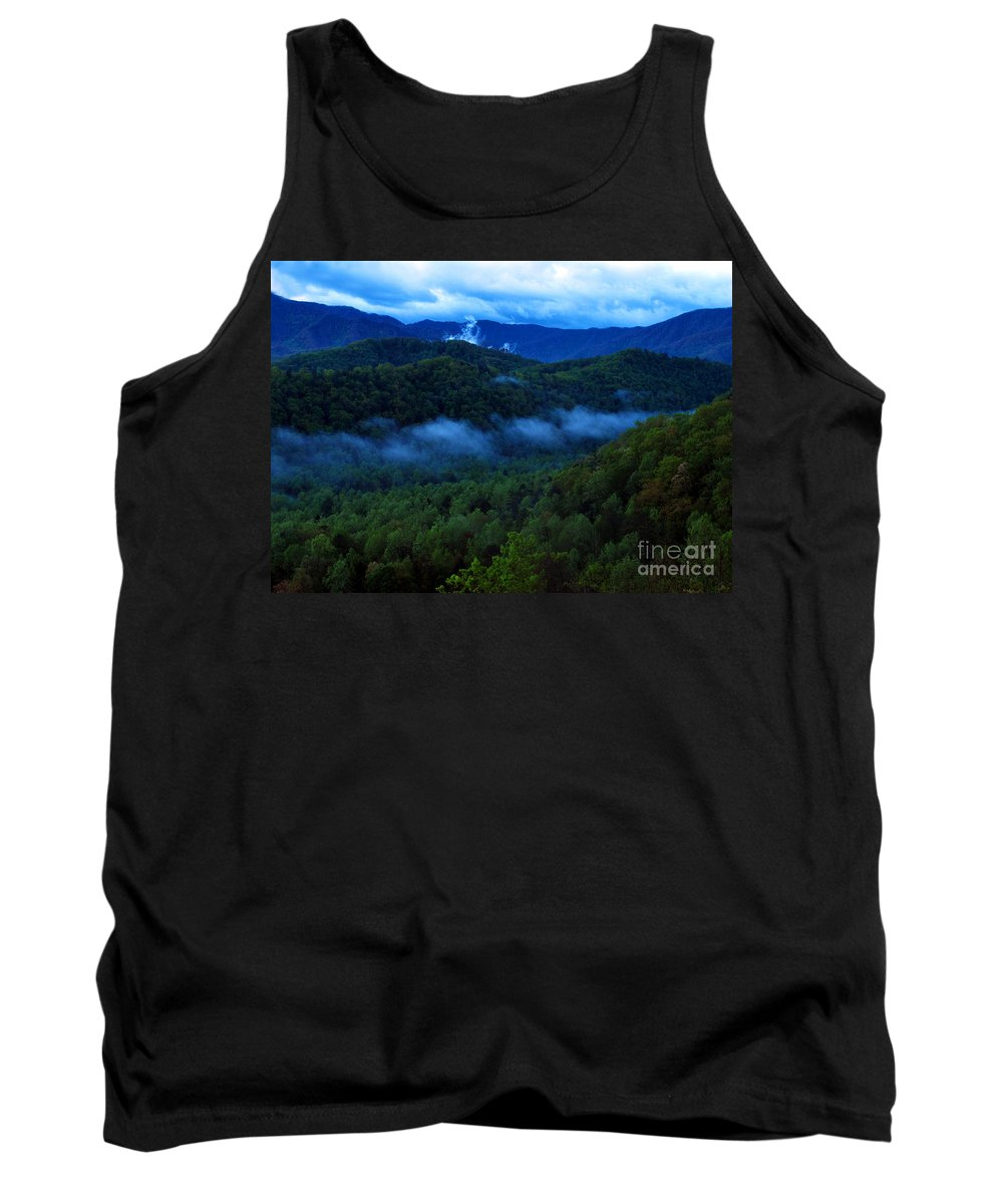 Smokies Tank Top featuring the photograph Dusk In The Smoky Mountains  by Nancy Mueller