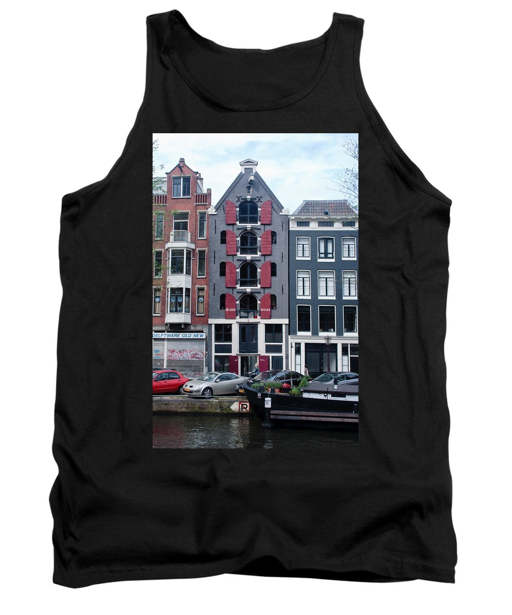 Amsterdam Tank Top featuring the photograph Dutch Canal House by Thomas Marchessault