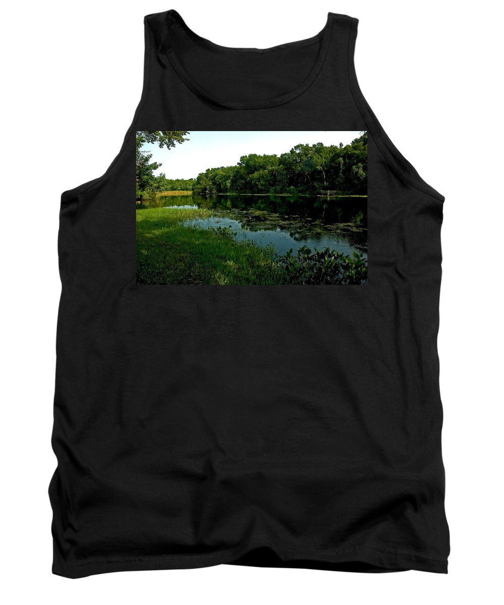 Landscape Tank Top featuring the photograph Early Morning Spring Run by Norman Johnson