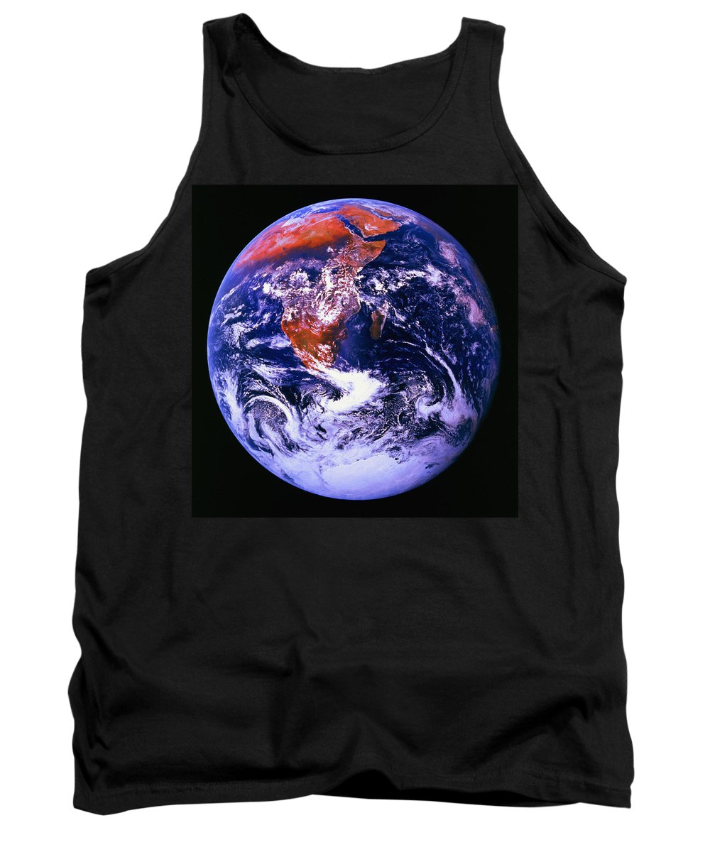 Astronomy Tank Top featuring the photograph Earth From Space Centered On East Africa by Don Hammond