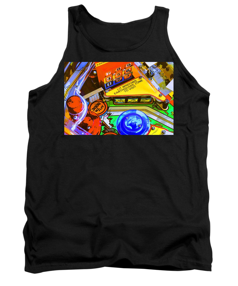 Pinball Tank Top featuring the photograph Earthquake Zone by Dominic Piperata