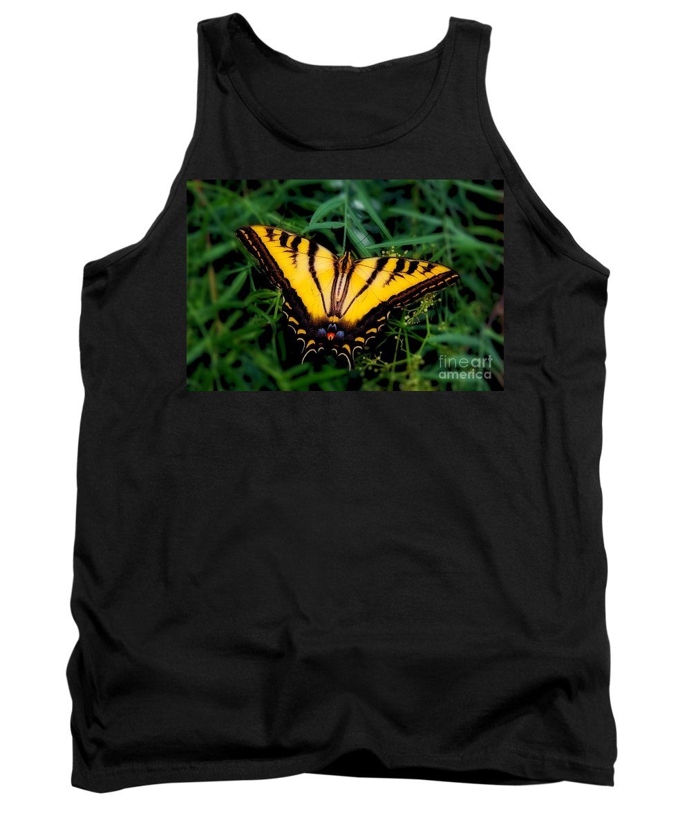 Eastern Tiger Swallowtail Butterfly Prints Tank Top featuring the photograph Eastern Tiger Swallowtail Butterfly by Jerry Cowart