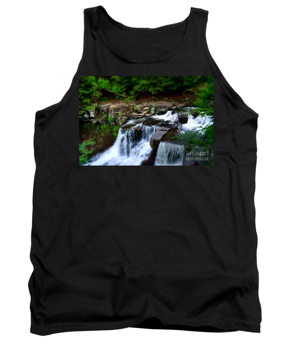 Waterfalls Tank Top featuring the photograph Easy Going by Jeffery L Bowers