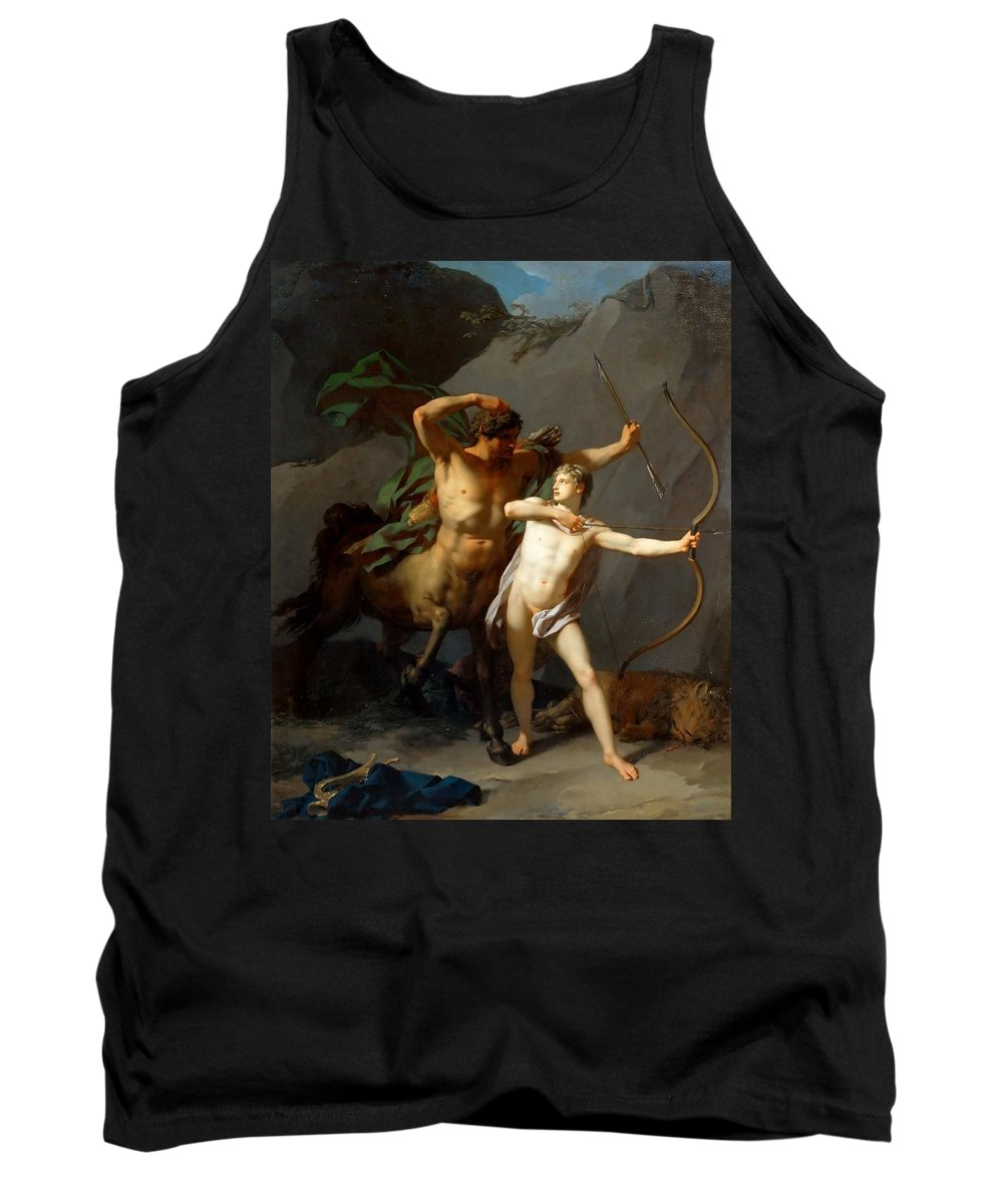 Jean Baptiste Regnault Tank Top featuring the painting Education Of Achilles by Jean Baptiste Regnault