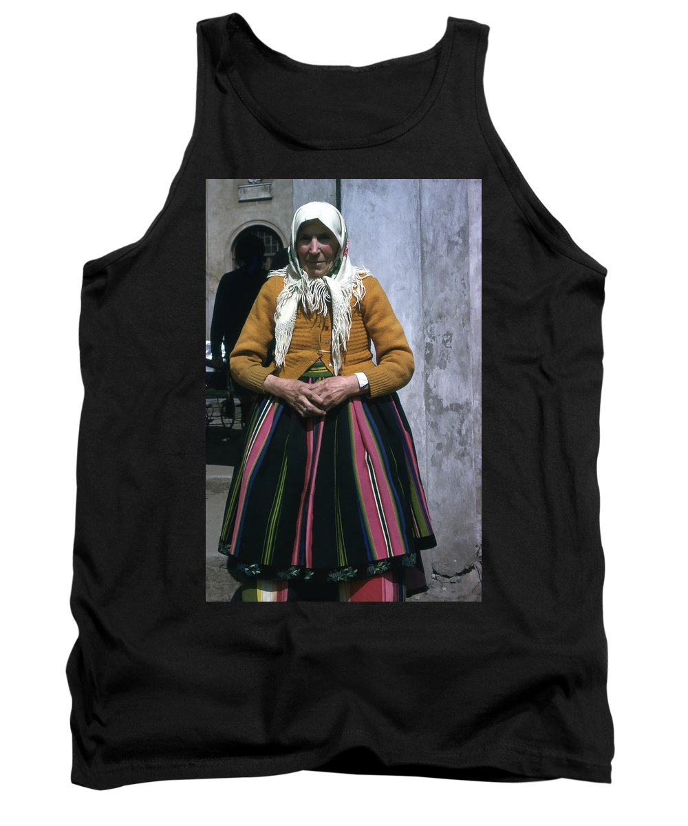 Tank Top featuring the photograph Elderly Woman by Cathy Anderson