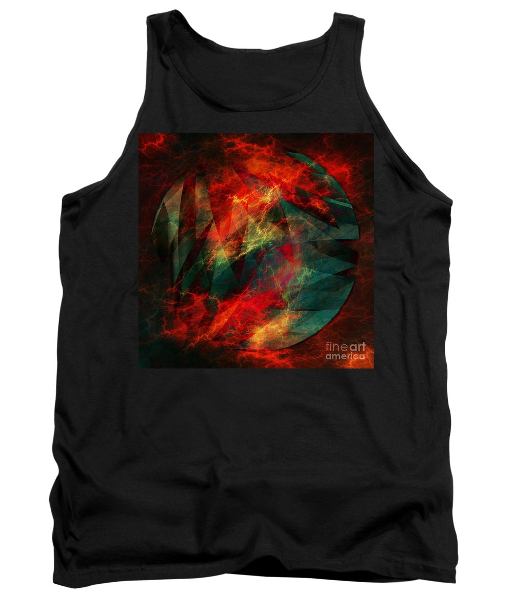 Electric Dreams Of The Ancients Tank Top featuring the digital art Electric Dreams Of The Ancients by Elizabeth McTaggart