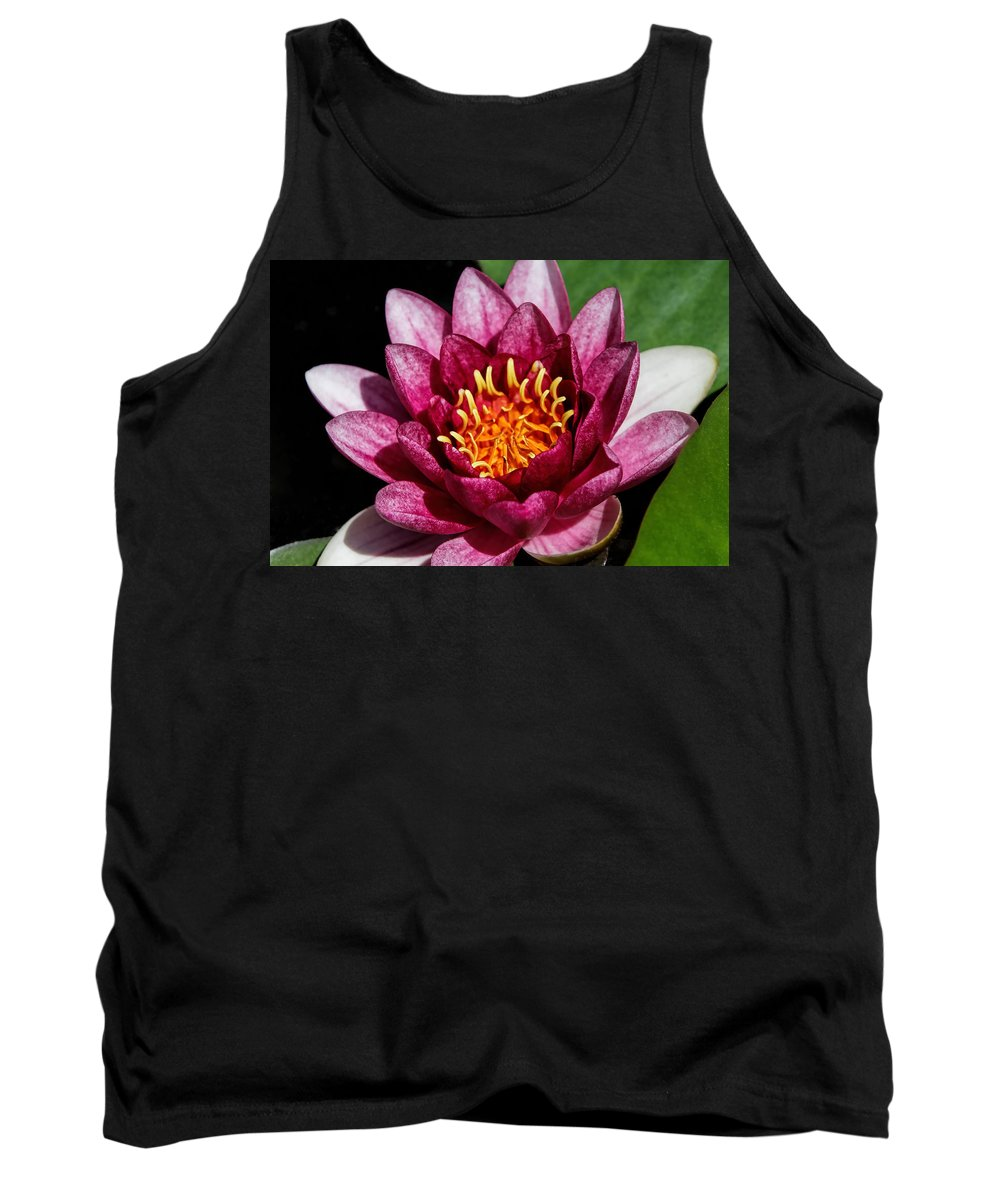 Denyse Duhaime Photography Tank Top featuring the photograph Elegant Lotus Water Lily by Denyse Duhaime