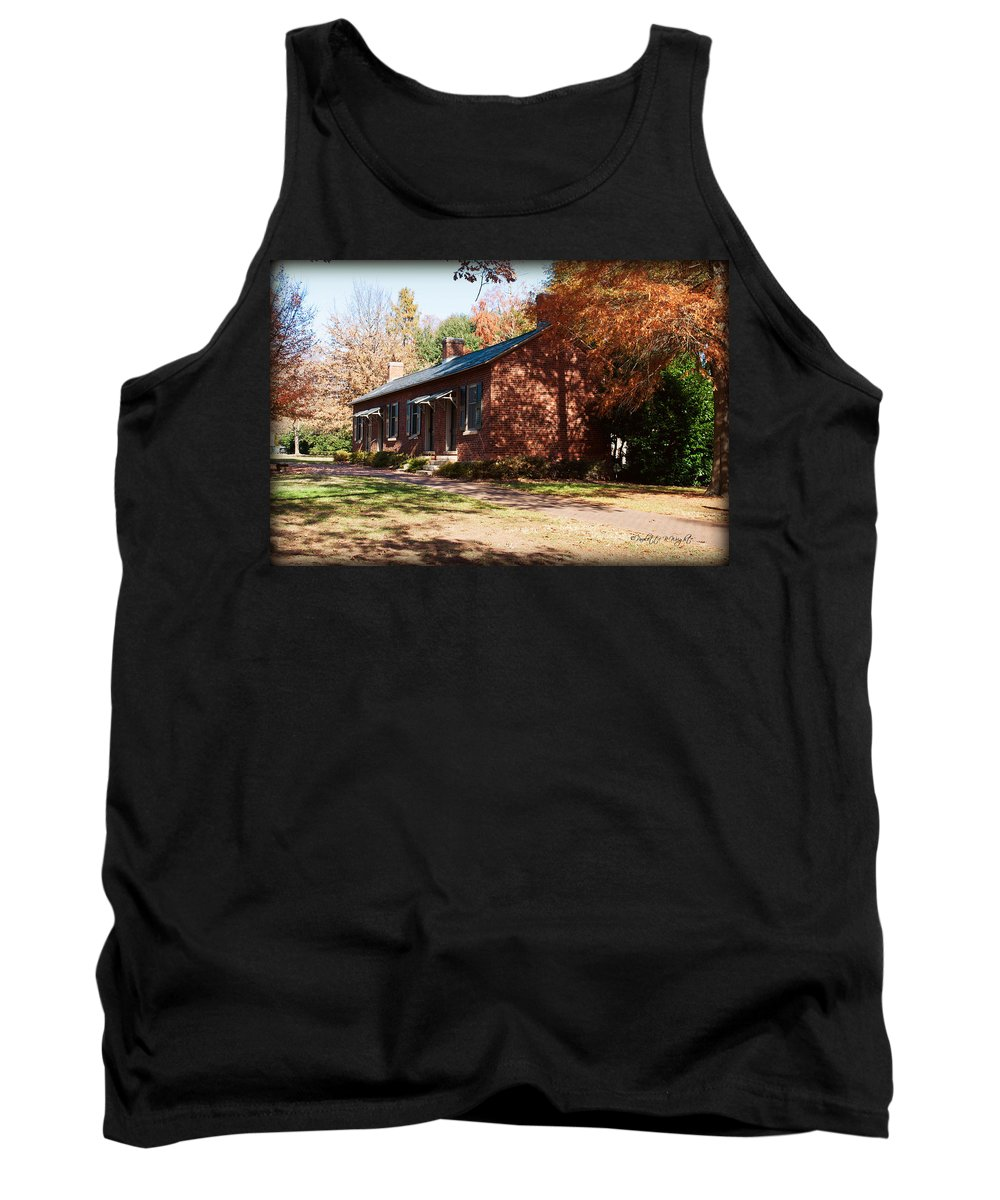 Art Tank Top featuring the photograph Elm Offices - Davidson College by Paulette B Wright
