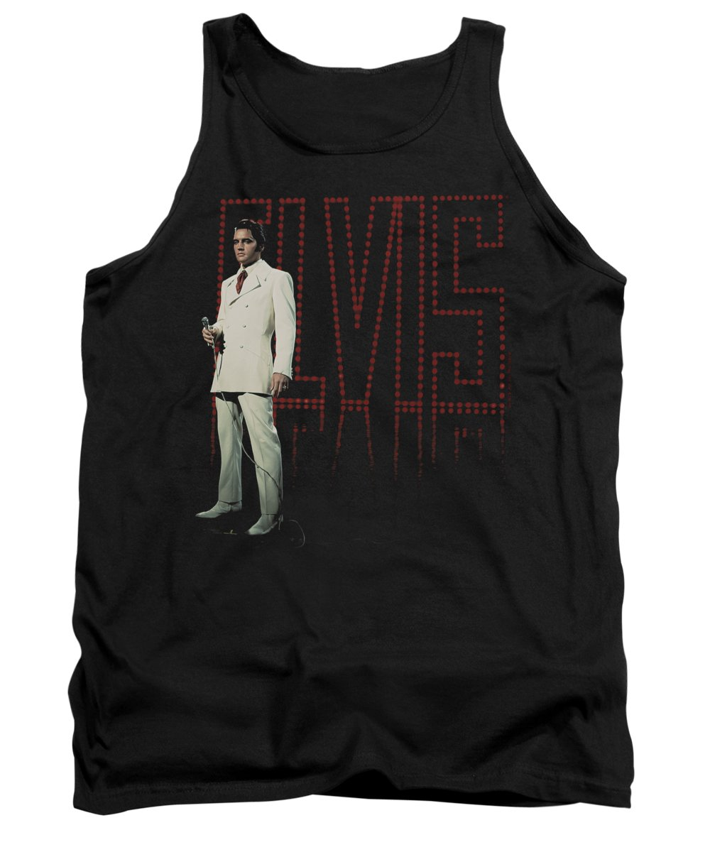 Elvis Tank Top featuring the digital art Elvis - White Suit by Brand A