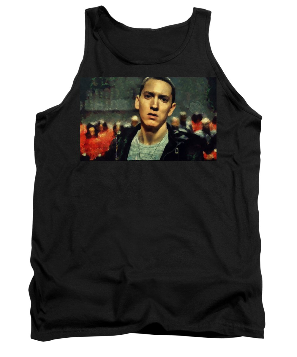 Poet Tank Top featuring the painting Eminem by Janice MacLellan