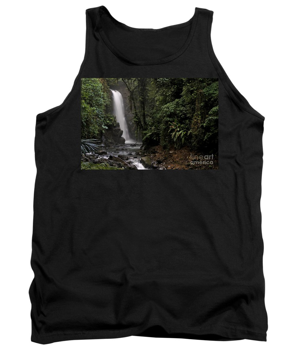 Waterfall Tank Top featuring the photograph Encantada Waterfall Costa Rica by Teresa Zieba