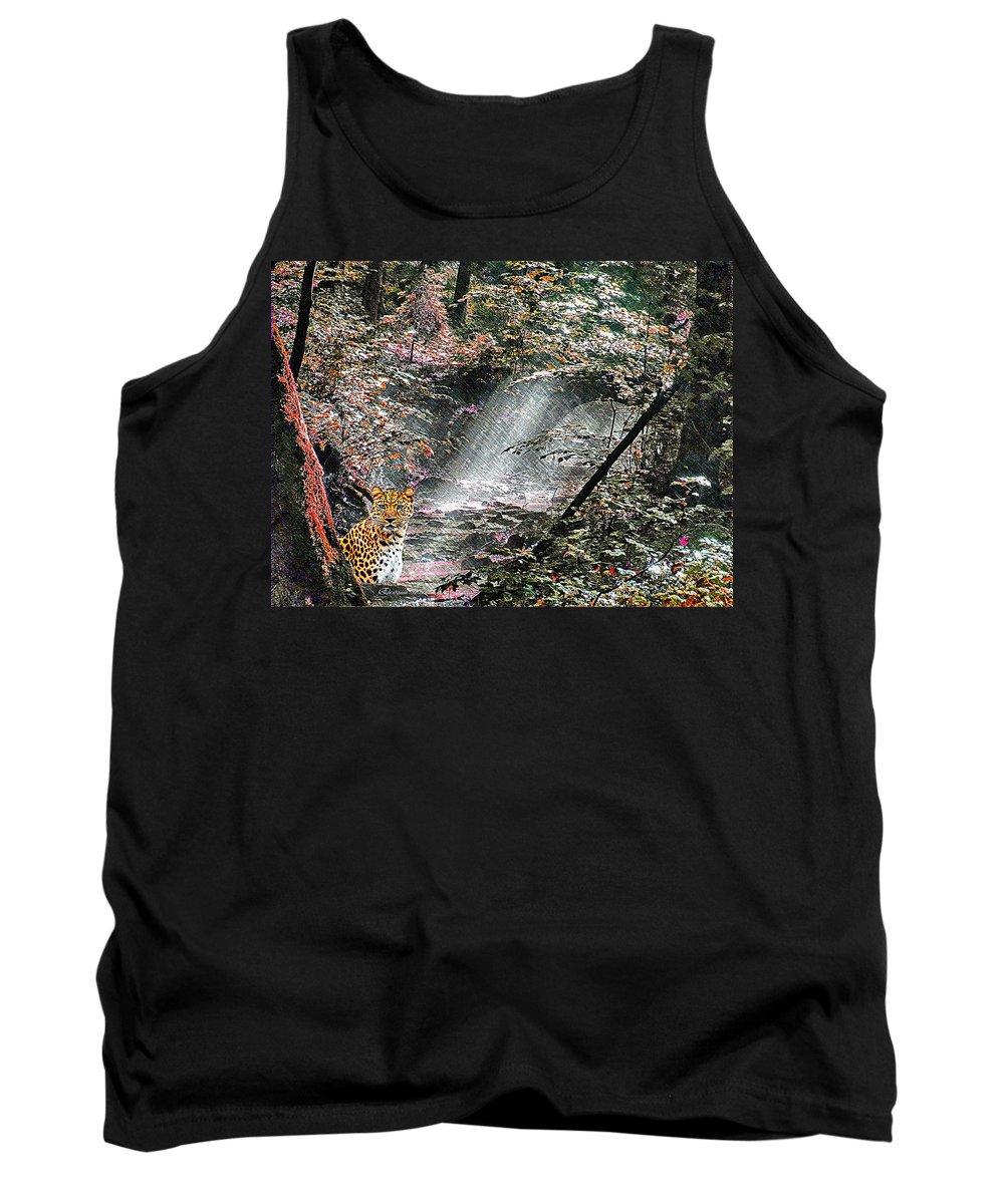 Forest Tank Top featuring the digital art Enchanted Forest - Featured In Wildlife Group by Ericamaxine Price
