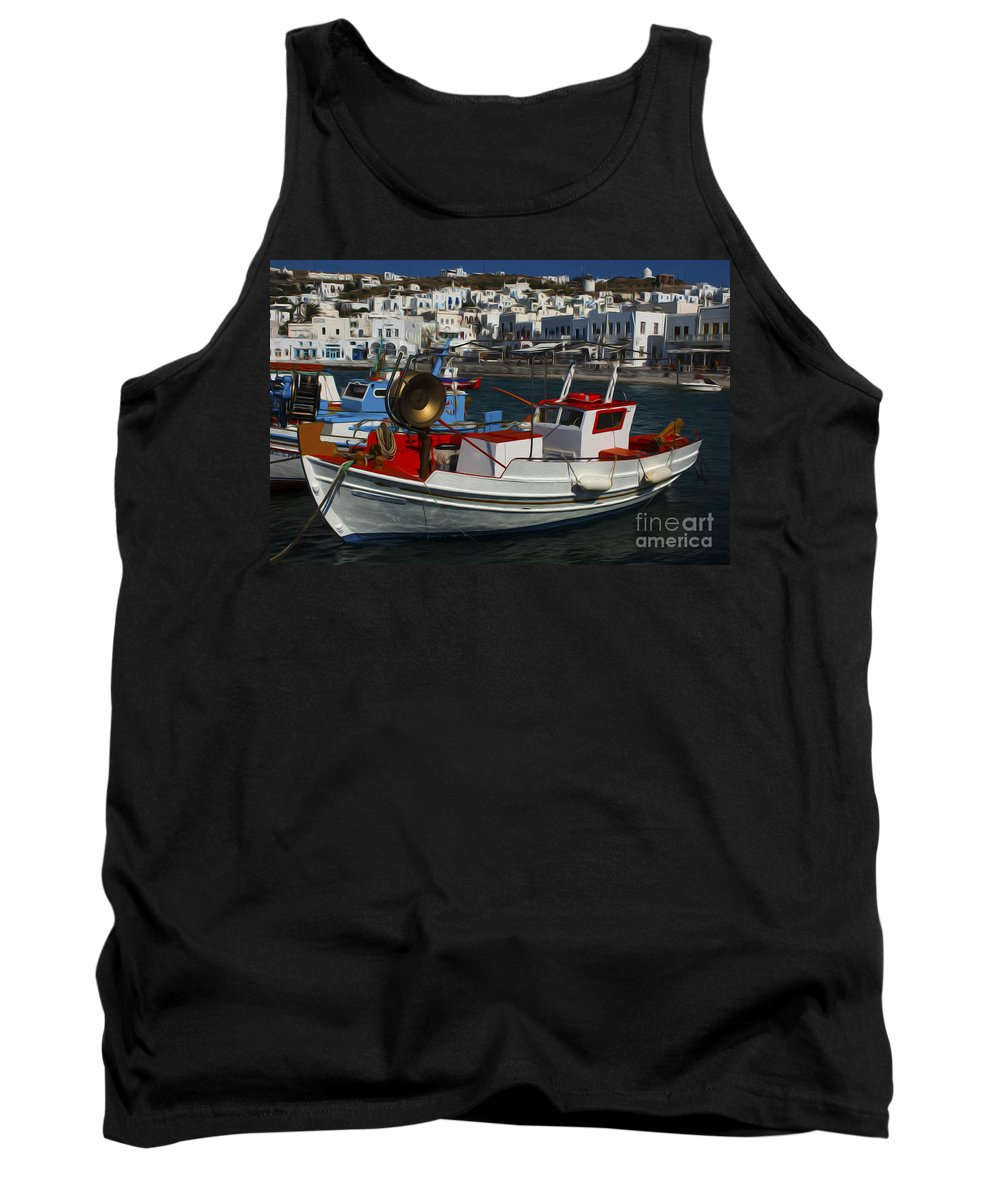 Mykonos Tank Top featuring the photograph Enchanted Spaces Mykonos Greece 1 by Bob Christopher