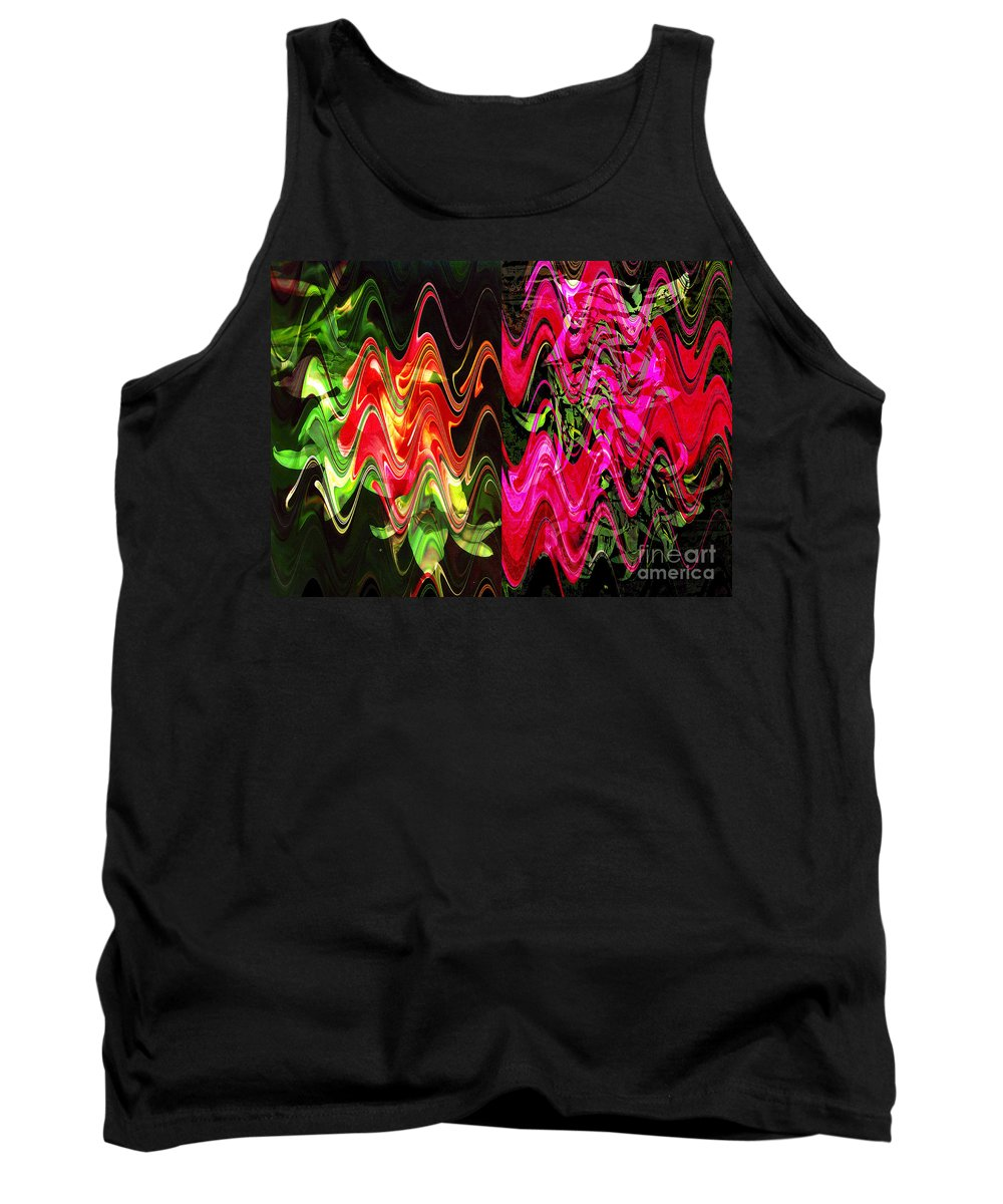 Abstract Tank Top featuring the digital art Energy by Yael VanGruber