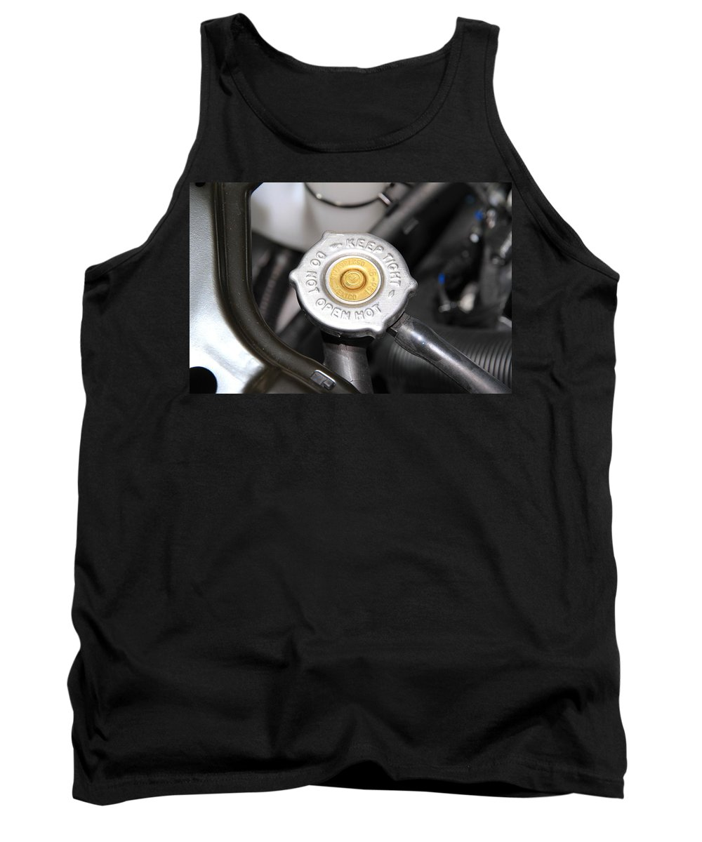 Fluid Tank Top featuring the photograph Engine Valve by Valentino Visentini