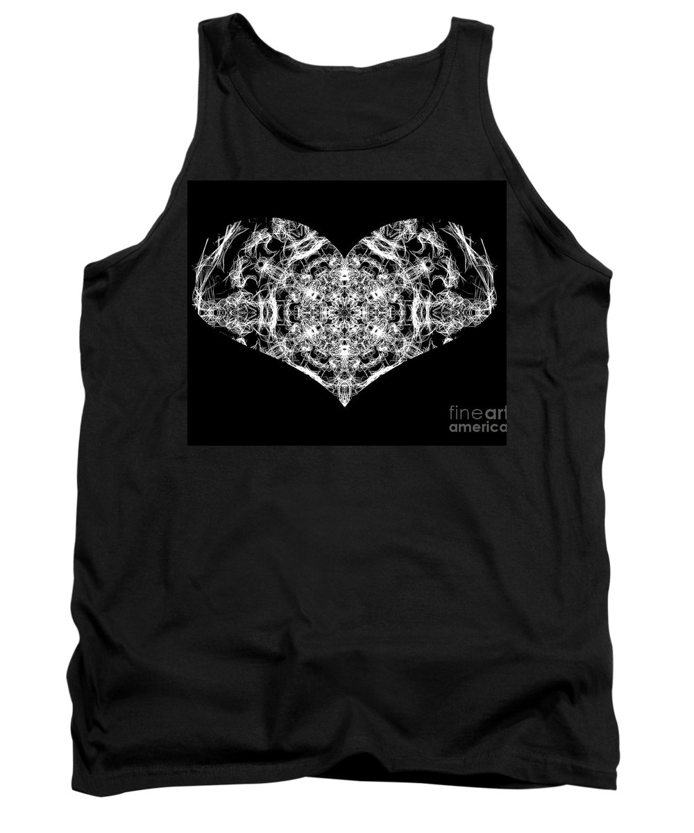 Heart Tank Top featuring the digital art Enlightened Heart by April Patterson