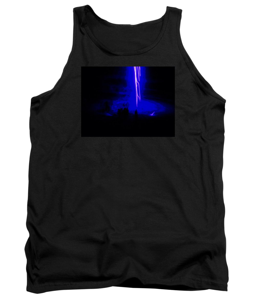 Fireworks Tank Top featuring the photograph Enlightened by Kathy Barney