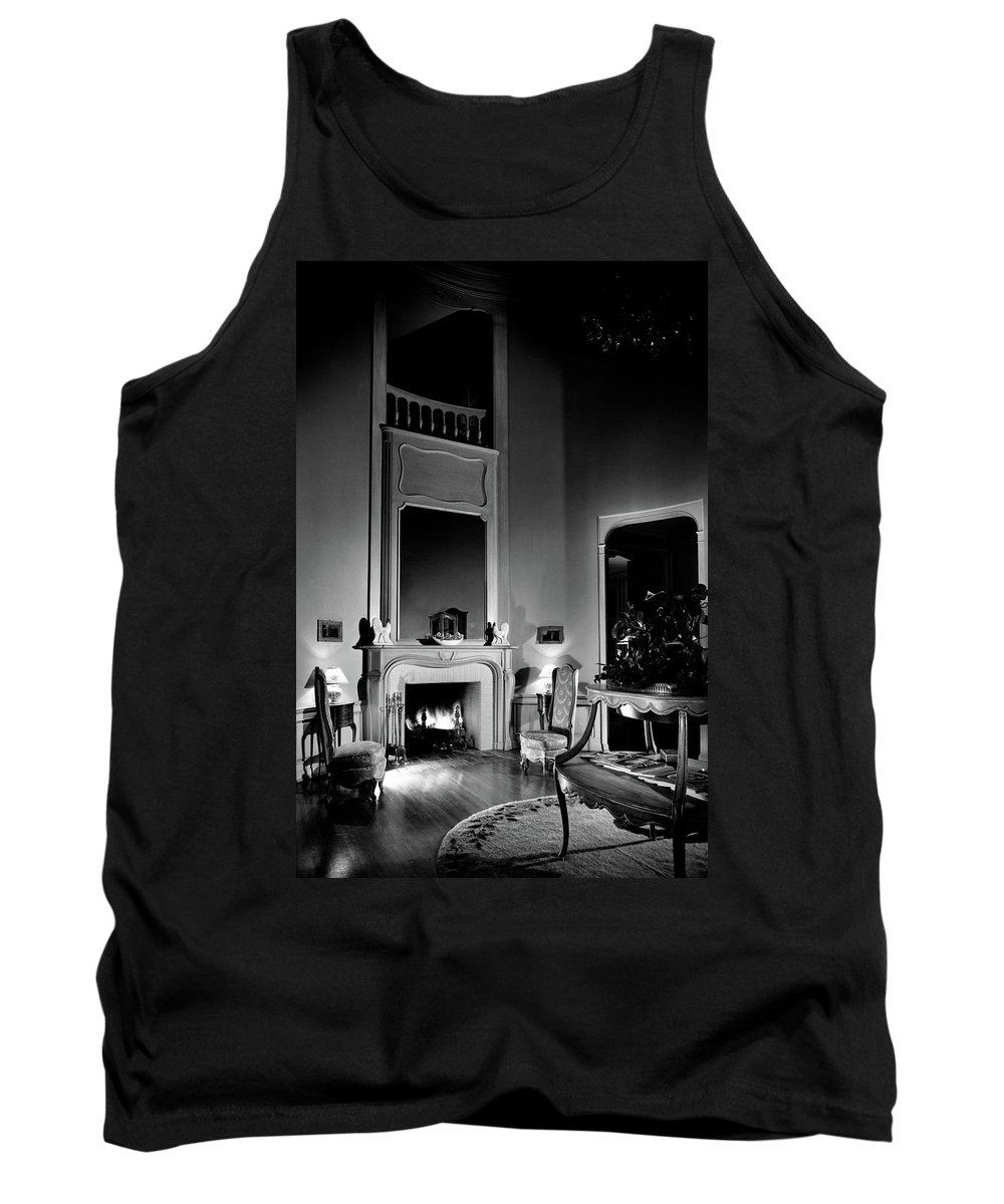 Fame Tank Top featuring the photograph Entrance Hall Of Joan Bennett And Walter Wagner's by Maynard Parker