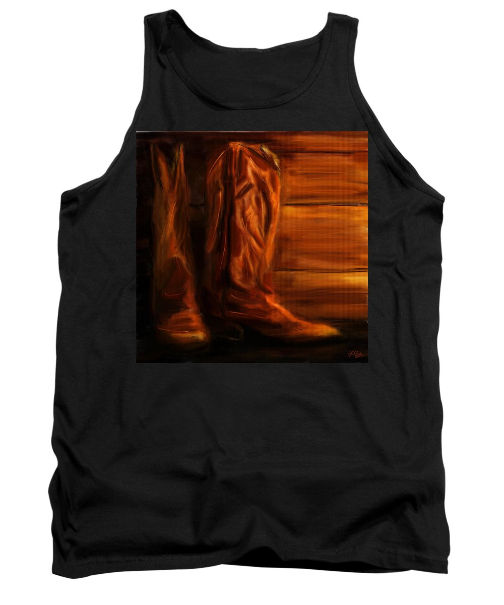 Equestrian Boots Tank Top featuring the digital art Equestrian Boots by Lourry Legarde
