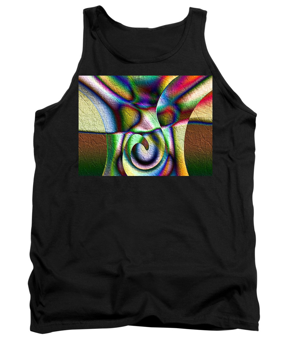 Erupt Tank Top featuring the digital art Erupt by Kiki Art