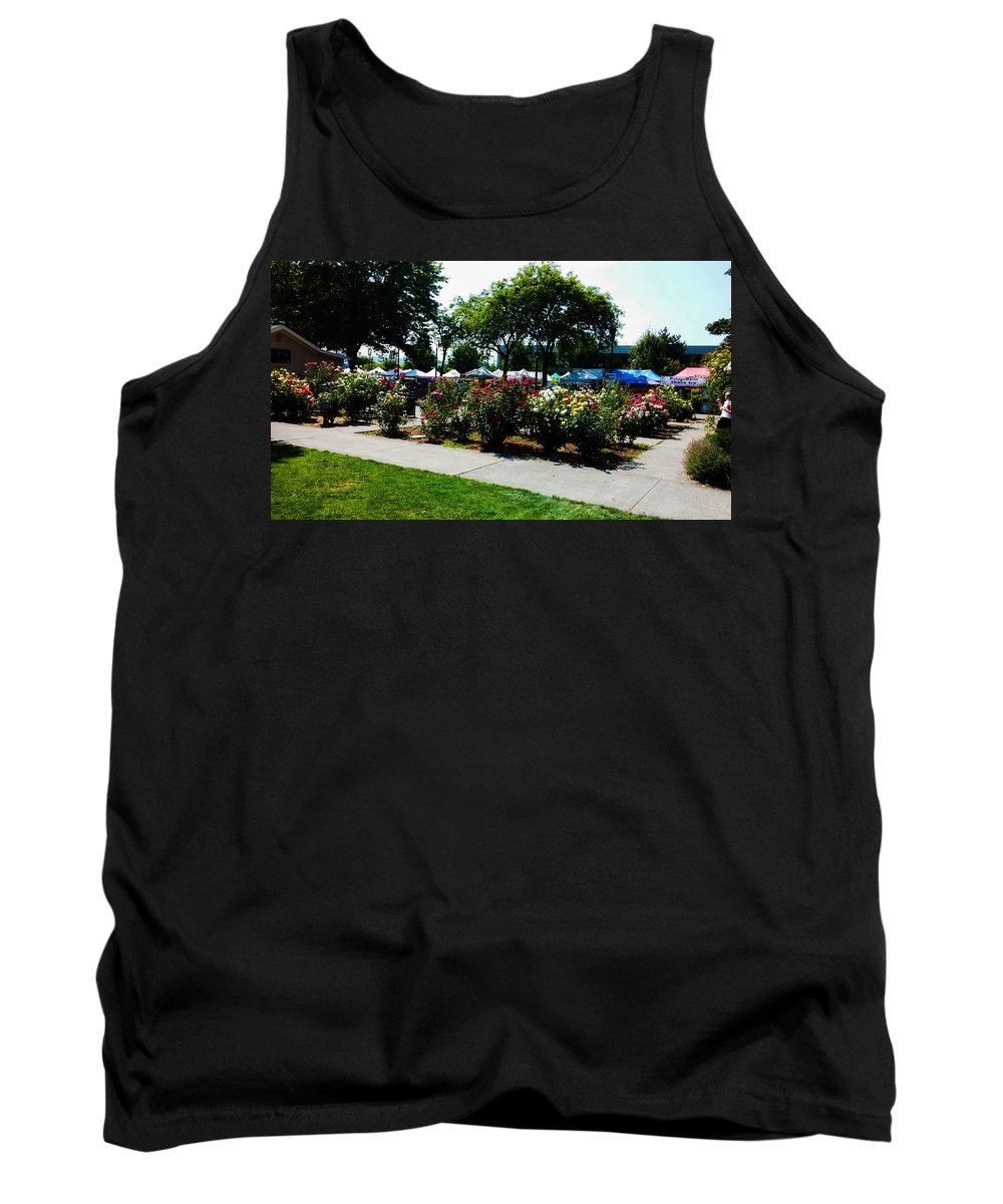 Photograph Tank Top featuring the photograph Esther Short Park Rose Gardens by Melissa Coffield