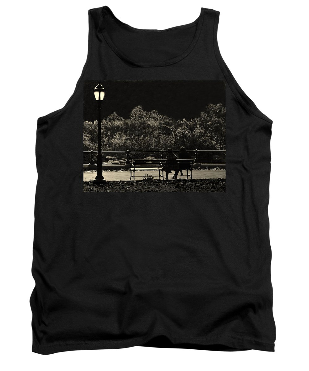 Brooklyn Tank Top featuring the photograph Evening Bench Warmers by Jeff Watts