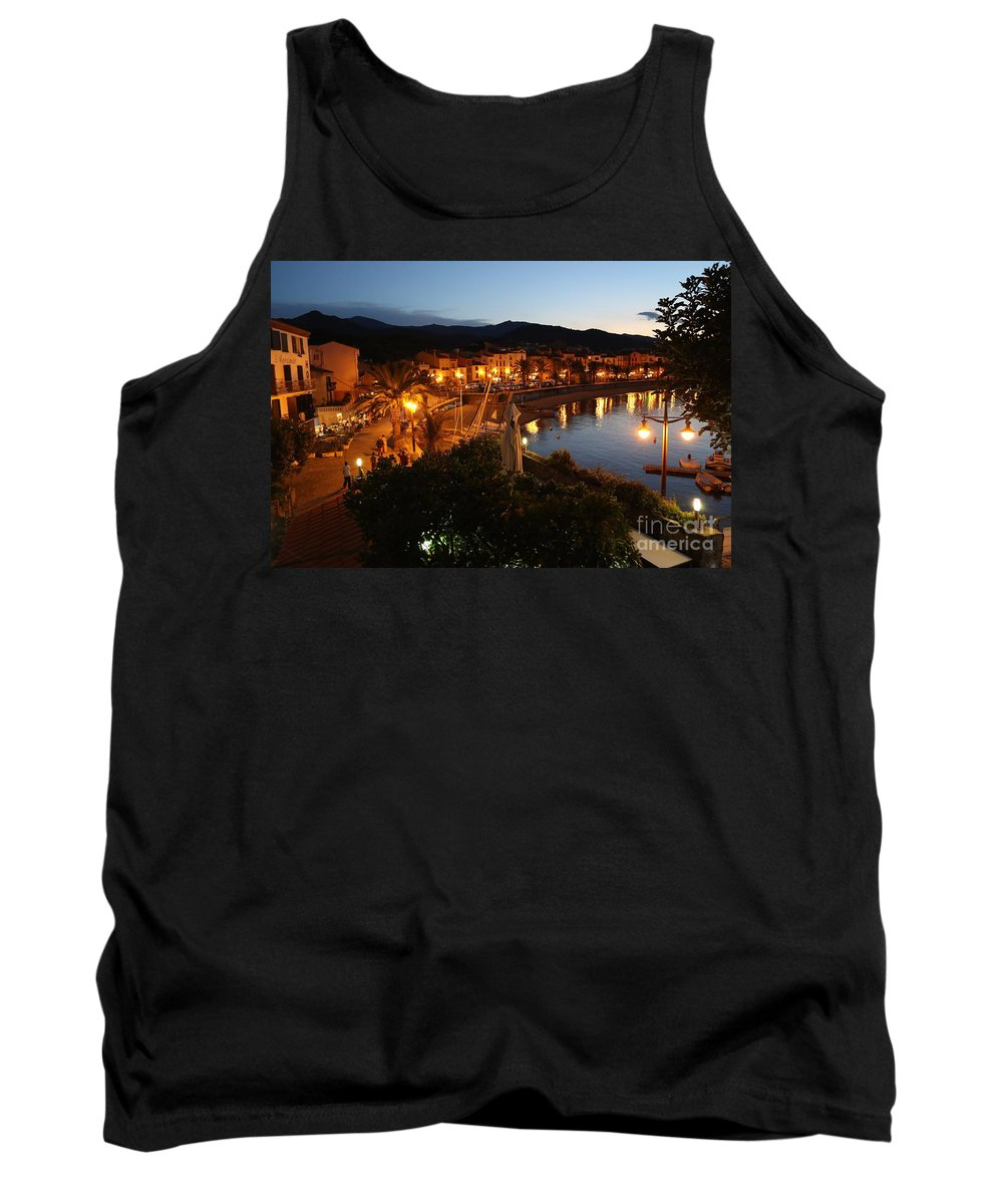 France Tank Top featuring the photograph Evening Light In Collioure by Carol Groenen