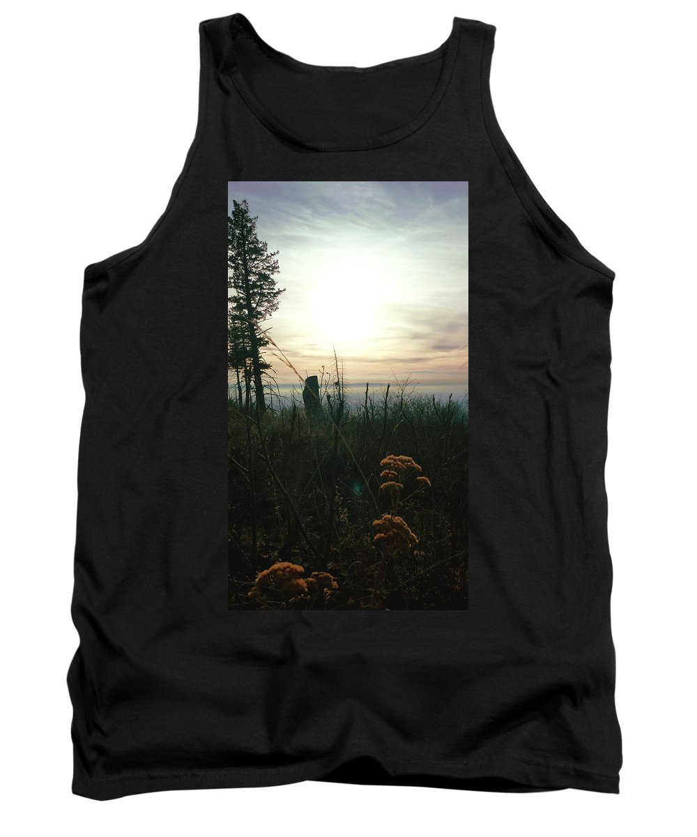 Sky Tank Top featuring the photograph Evening Mist In Fall by Fernando Delgado