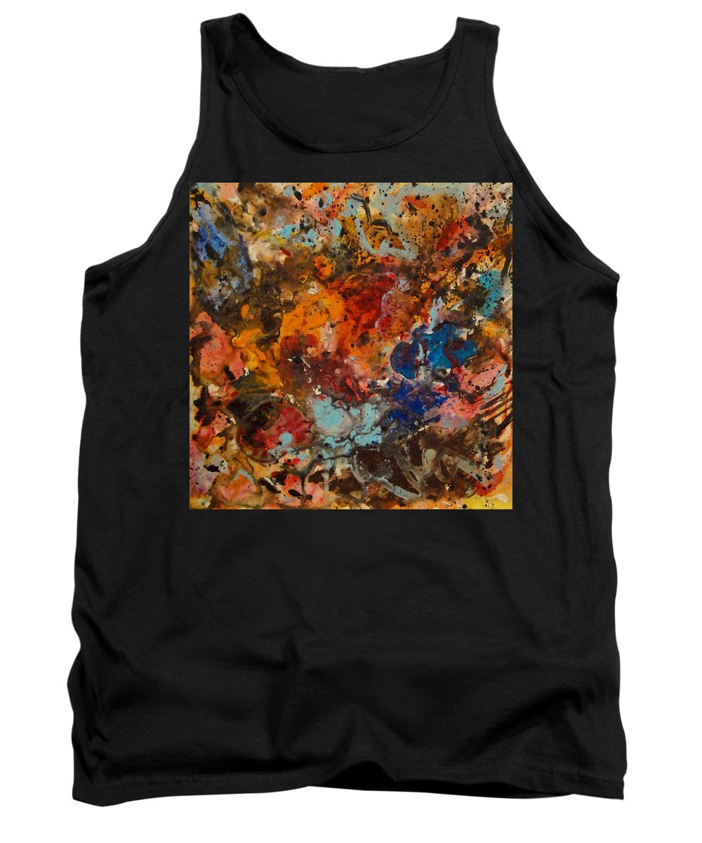 Expressionism Tank Top featuring the painting Explosive Chaos by Natalie Holland