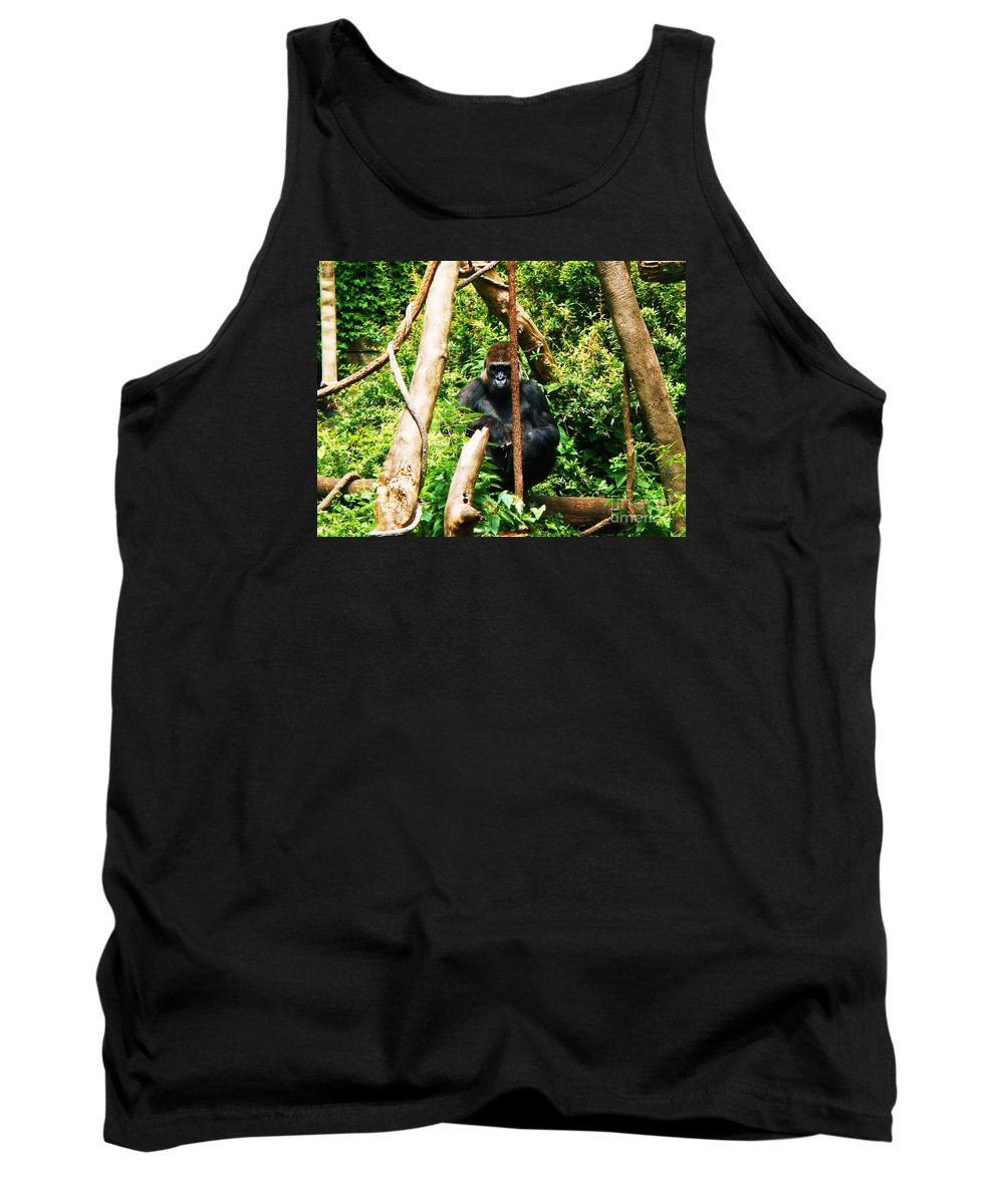 Gorilla Tank Top featuring the photograph Eye Contact by Vanessa Palomino