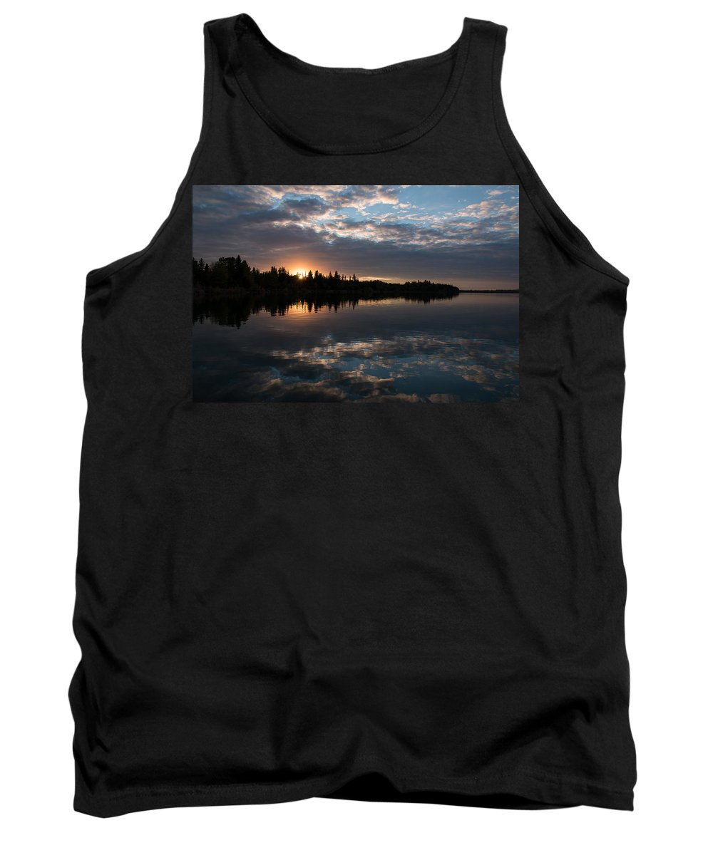 Sunset Tank Top featuring the photograph ...eye In The Sky by Cory Huchkowski